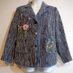 Joe Browns Embellished Fashion Blazer Jacket Nwot